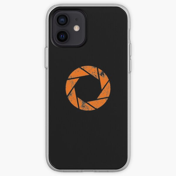 Aperture Science (Orange) Logo · Distressed iPhone Soft Case