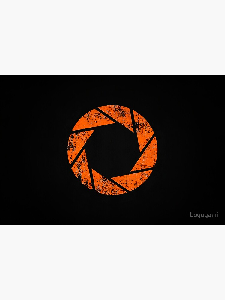 Aperture Science (Orange) Logo · Distressed by Logogami