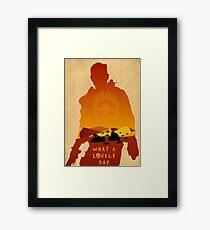 Mad Max Minimalist Framed Print