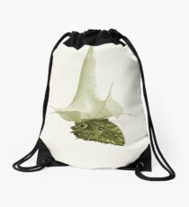 Monochrome - At the butterfly ball Drawstring Bag