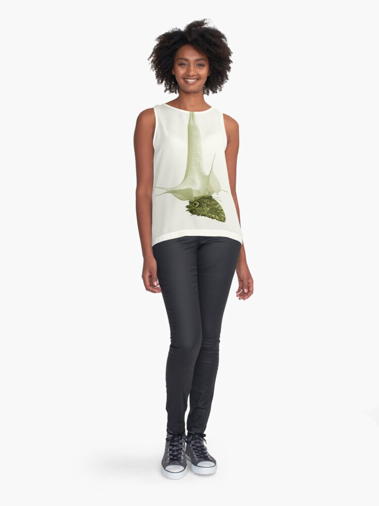 Alternate view of Monochrome - At the butterfly ball Sleeveless Top
