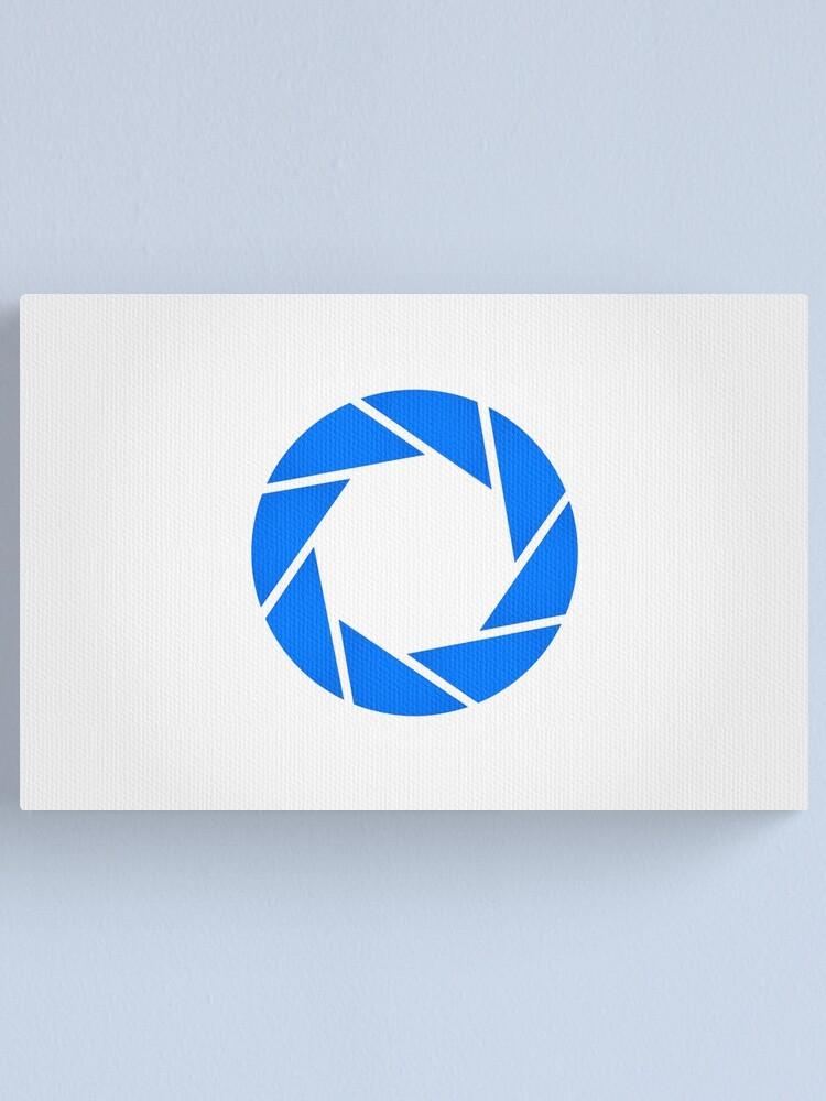 Alternate view of Aperture Science (Blue) Logo Canvas Print