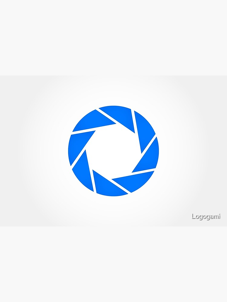 Aperture Science (Blue) Logo by Logogami