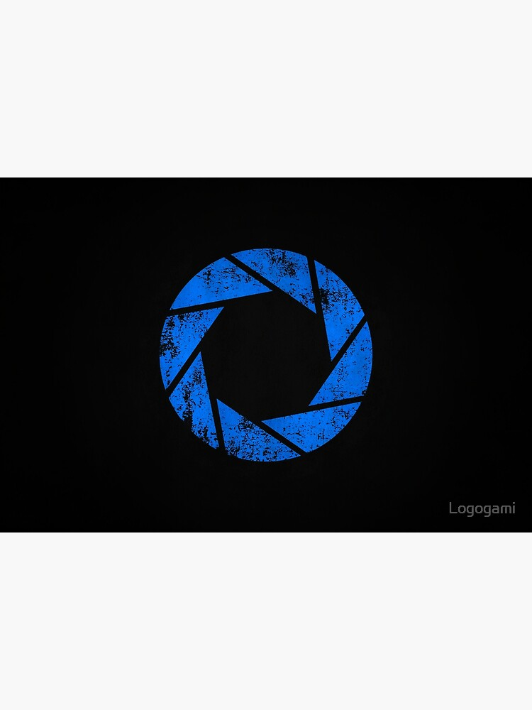 Aperture Science (Blue) Logo · Distressed by Logogami