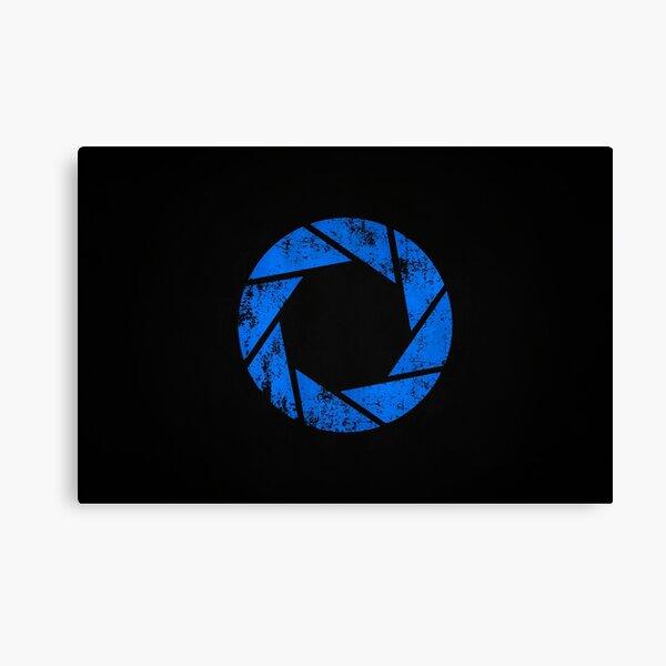 Aperture Science (Blue) Logo · Distressed Canvas Print
