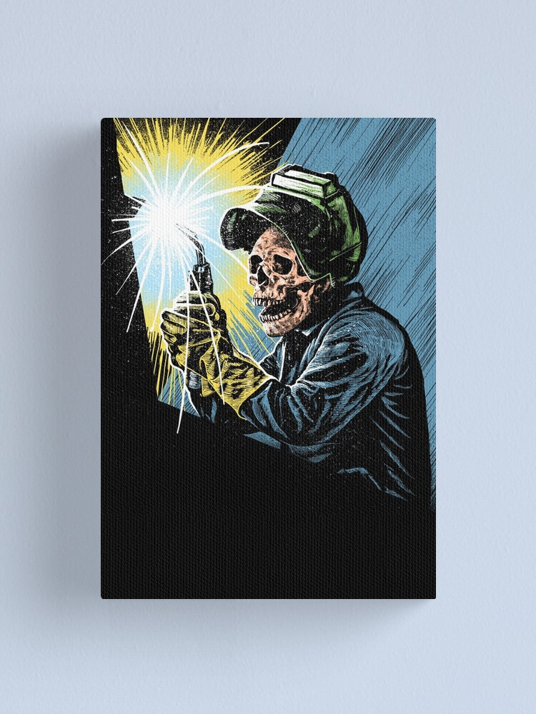 Alternate view of Welder skull Canvas Print