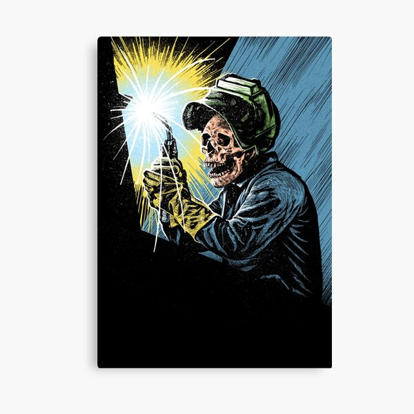 Welder skull Canvas Print