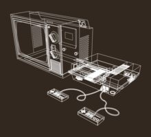 NES and TV Wireframe