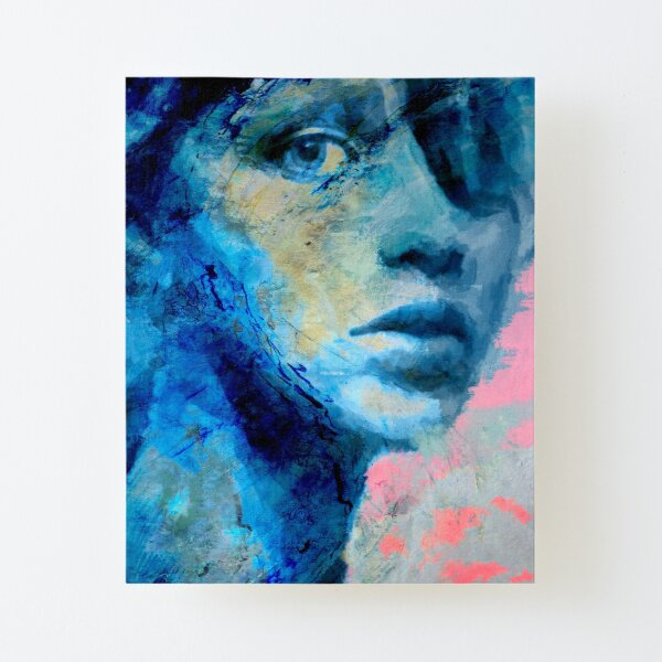 Blue IV Canvas Mounted Print