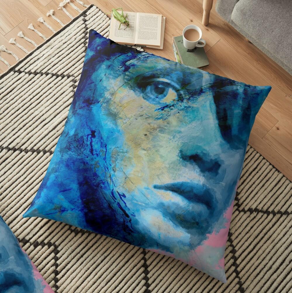 Blue IV Floor Pillow