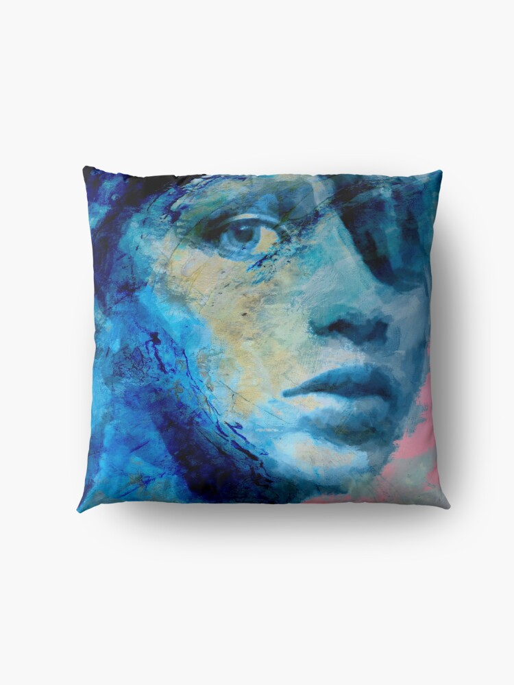 Alternate view of Blue IV Floor Pillow