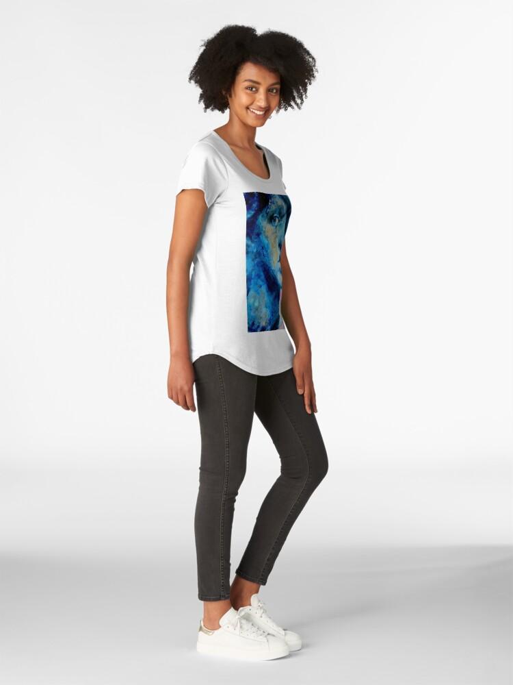 Alternate view of Blue IV Premium Scoop T-Shirt