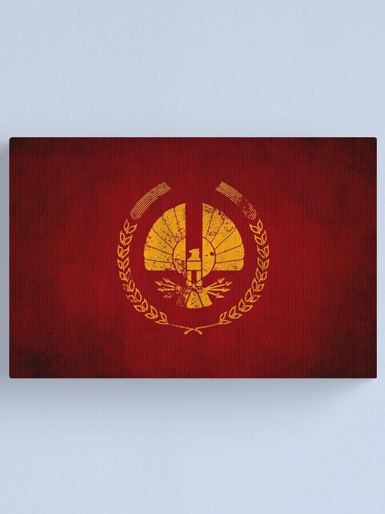 Alternate view of Panem Logo · Distressed Canvas Print