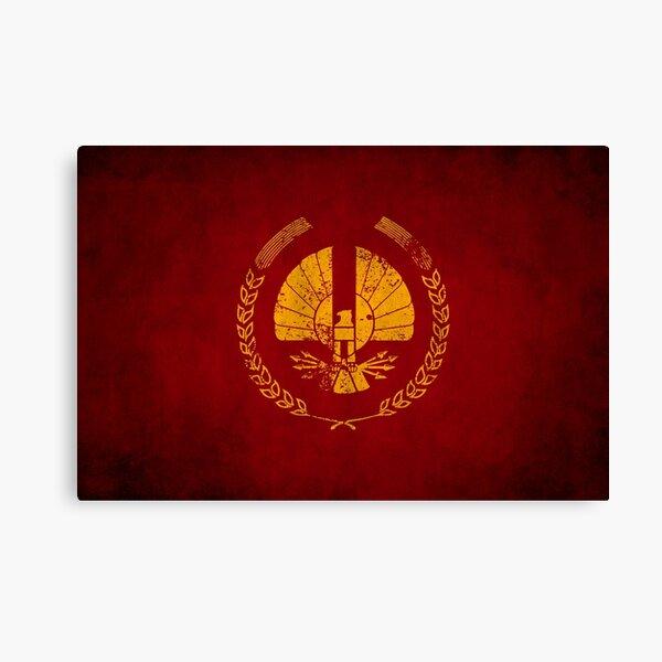 Panem Logo · Distressed Canvas Print