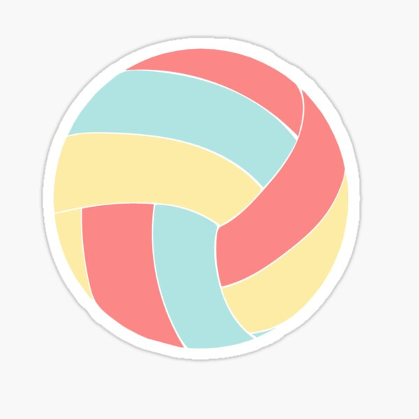 Colorful Volleyball Sticker  Sticker