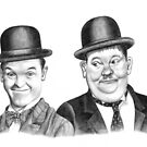 Stan Laurel & Oliver Hardy by Margaret Sanderson