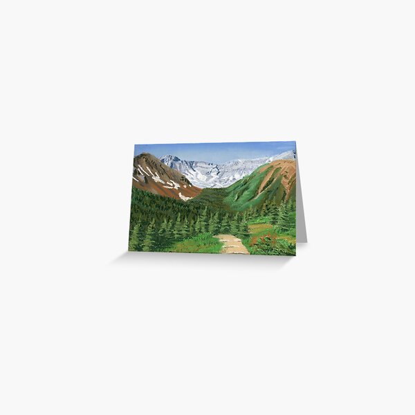 Across the Valley from Ptarmigan Cirque Greeting Card