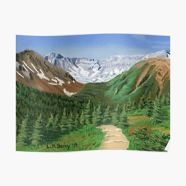 Across the Valley from Ptarmigan Cirque Poster
