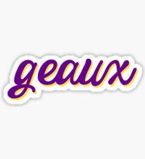 LSU GEAUX Sticker