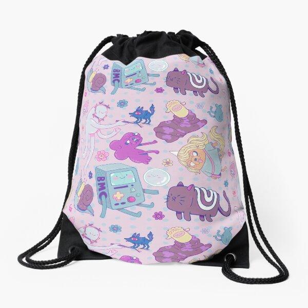 Adventure Pattern Drawstring Bag