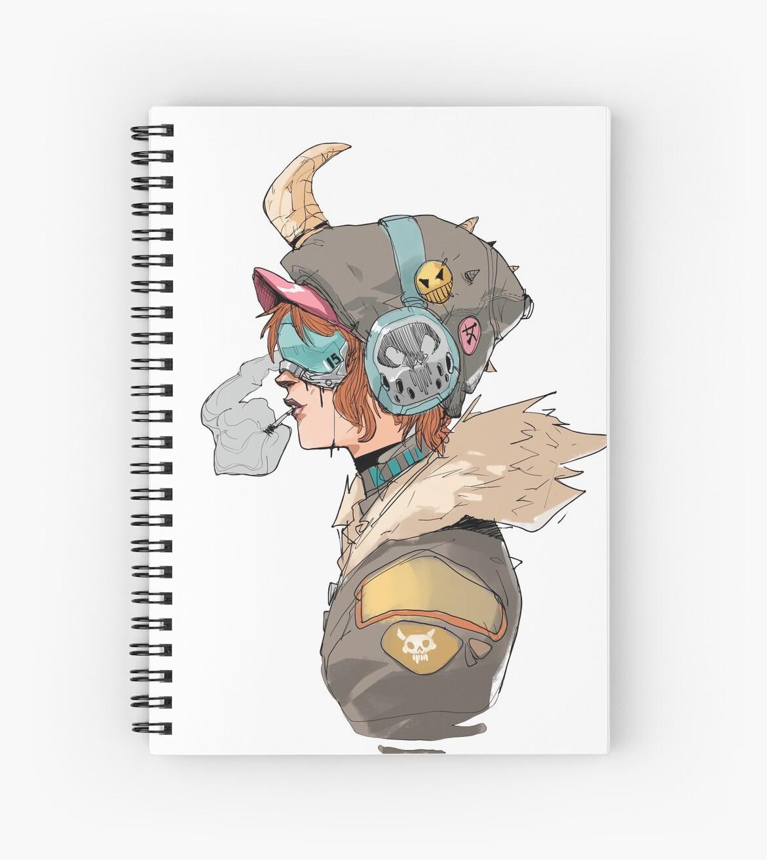 """""""Cyberpunk Outlander"""" Spiral Notebook By Rawpixel"""