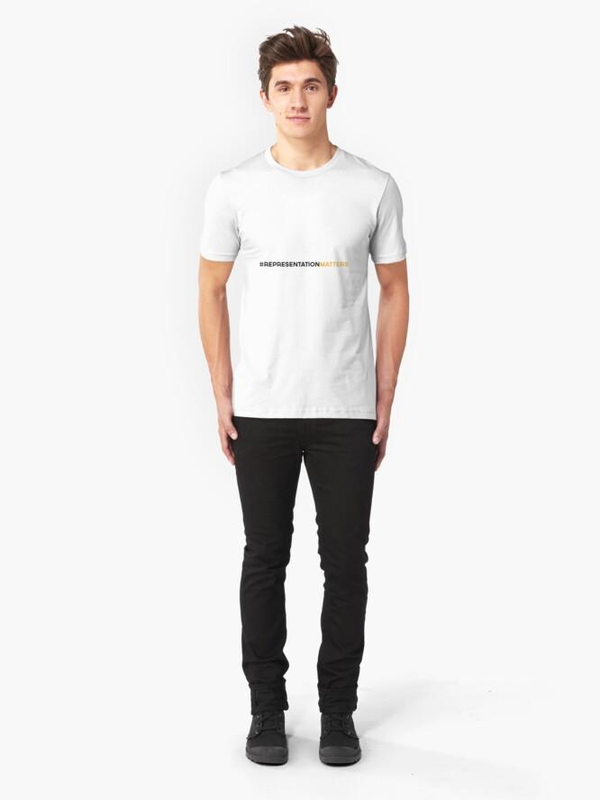 Alternate view of #RepresentationMatters Slim Fit T-Shirt