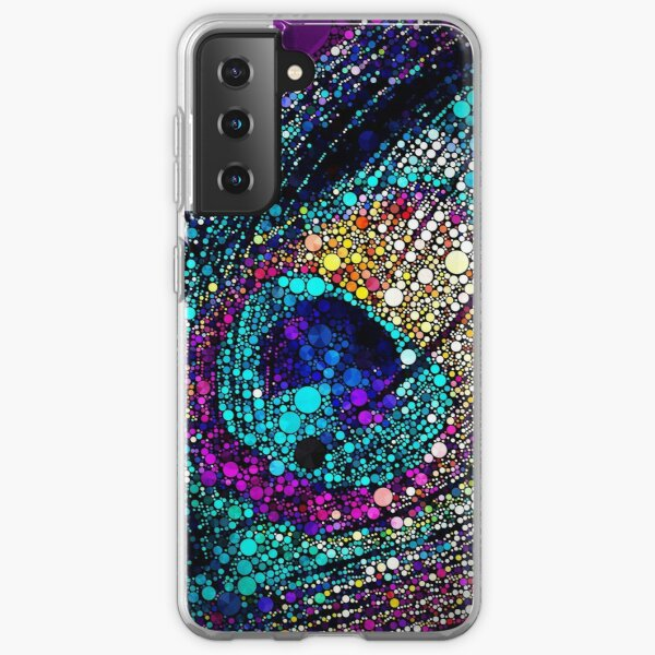 Peacock feather Samsung Galaxy Soft Case