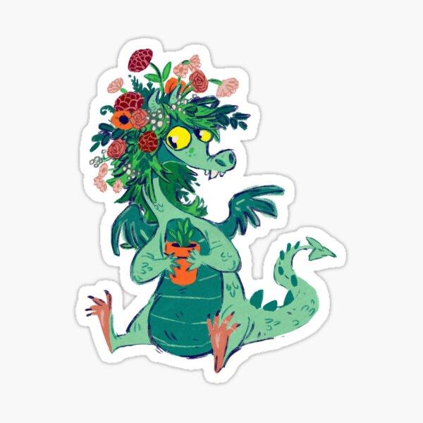 Going Green Dragon Sticker