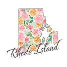 Rhode Island State | Floral Design with Roses von PraiseQuotes