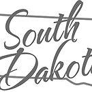 South Dakota State | Simple Design in Gray with Modern Typography von PraiseQuotes