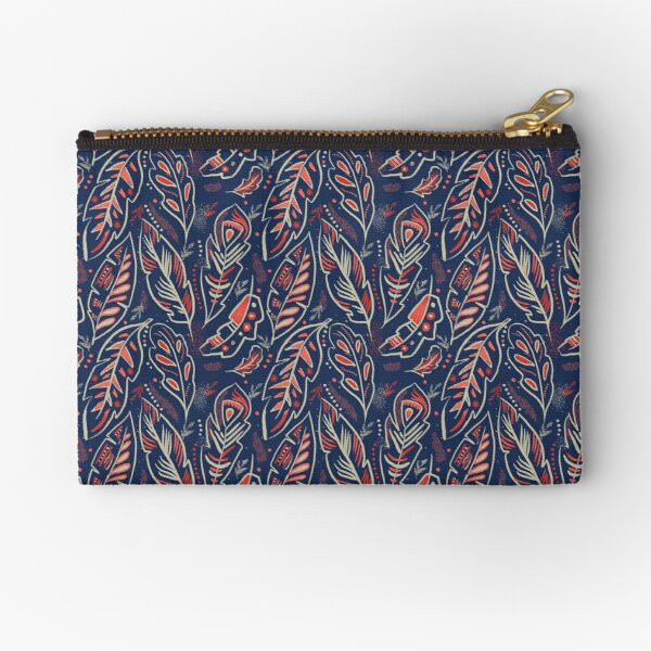 Magical Feathers Zipper Pouch