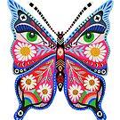 Retro Schmetterlingskunst von Andrea Lauren