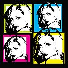 DEBBIE HARRY (BLONDIE) - COLOURFUL WARHOL-STYLE 4-UP COLLAGE by Clifford Hayes