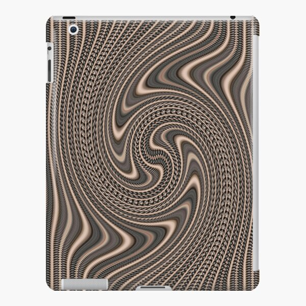 #Pattern, #abstract, #vortex, #design, twirl, brown, color image, wrinkled, circle iPad Snap Case