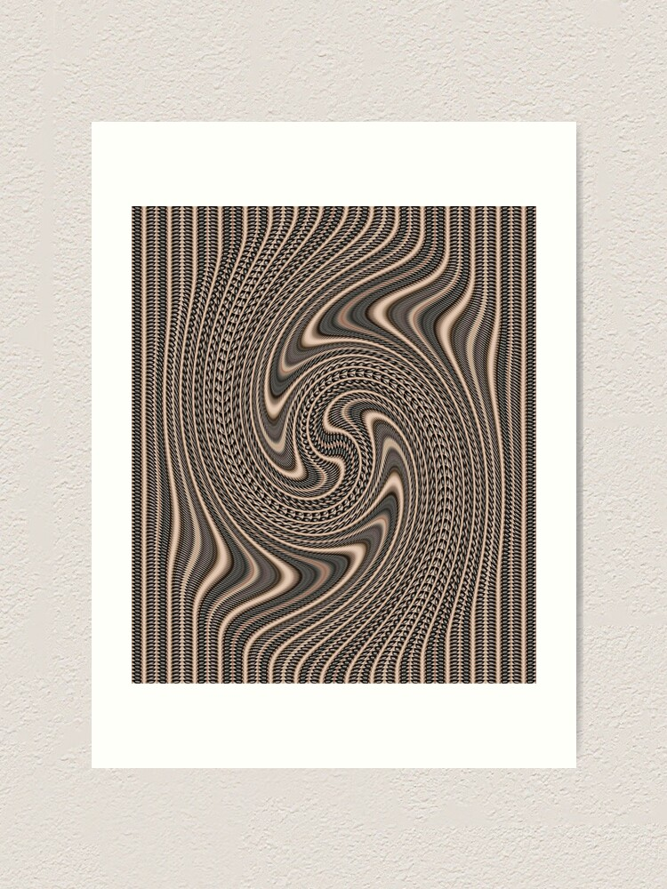 Alternate view of #Pattern, #abstract, #vortex, #design, twirl, brown, color image, wrinkled, circle Art Print