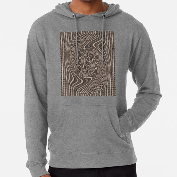 #Pattern, #abstract, #vortex, #design, twirl, brown, color image, wrinkled, circle Lightweight Hoodie