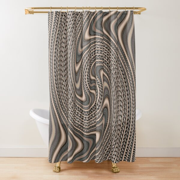 #Pattern, #abstract, #vortex, #design, twirl, brown, color image, wrinkled, circle Shower Curtain