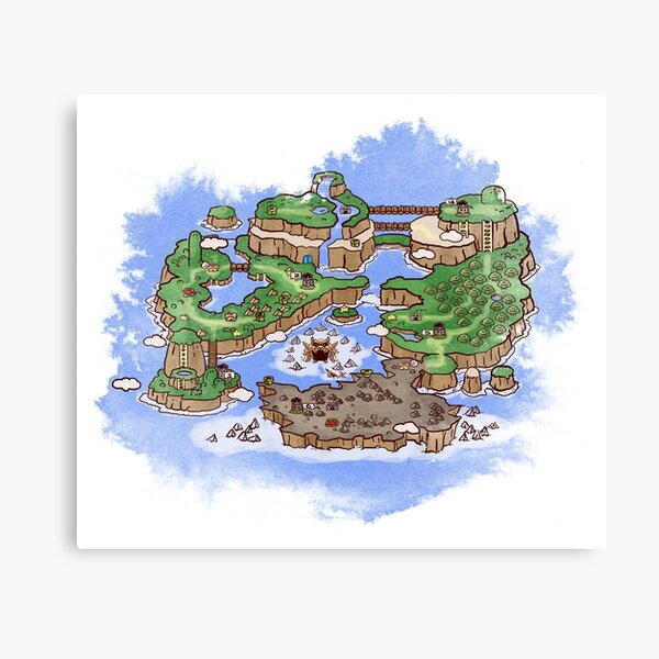 Dinosaur Land map Canvas Print