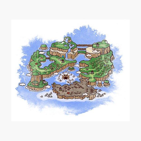 Dinosaurier-Landkarte Fotodruck