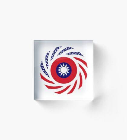 Taiwanese American Multinational Patriot Flag Series Acrylic Block