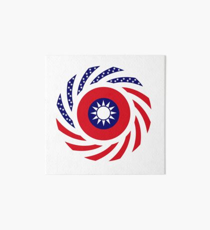 Taiwanese American Multinational Patriot Flag Series Art Board Print