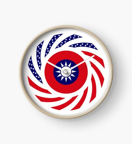 Taiwanese American Multinational Patriot Flag Series Clock