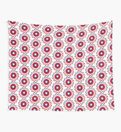 Taiwanese American Multinational Patriot Flag Series Wall Tapestry