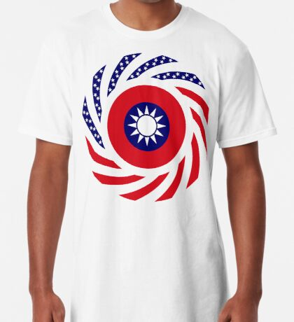 Taiwanese American Multinational Patriot Flag Series Long T-Shirt