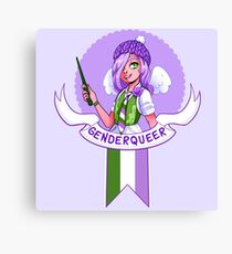 I was sorted into the Genderqueer House Canvas Print
