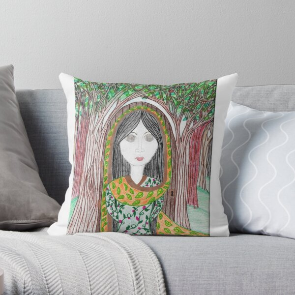 Mori-Ki, Guardian of the Forest Throw Pillow