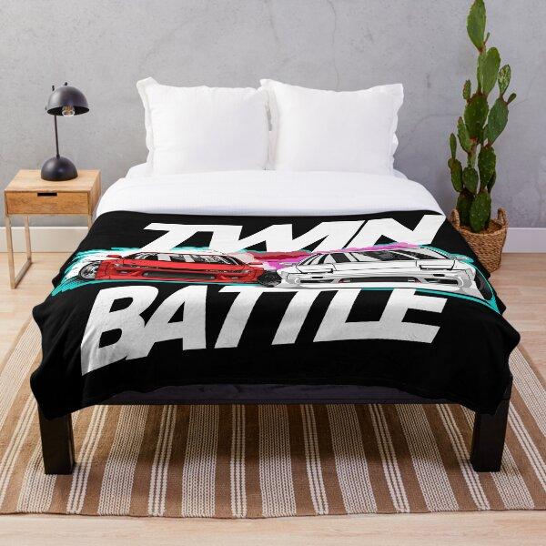 Nissan schassis twin drift battle Throw Blanket
