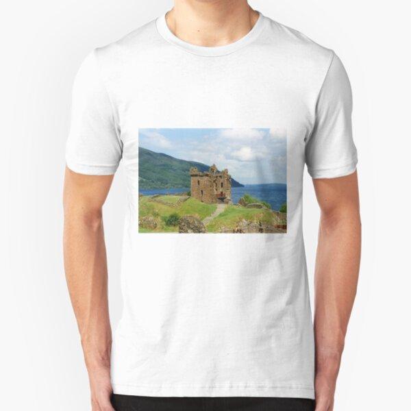 Urquhart Castle , Scotland Slim Fit T-Shirt