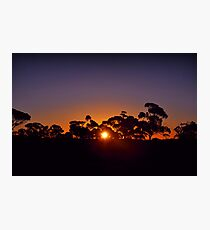 Kalgoorlie landscape sunset Photographic Print
