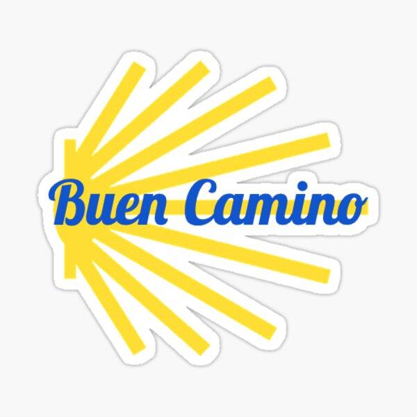 Buen Camino Santiago Shell Pegatina